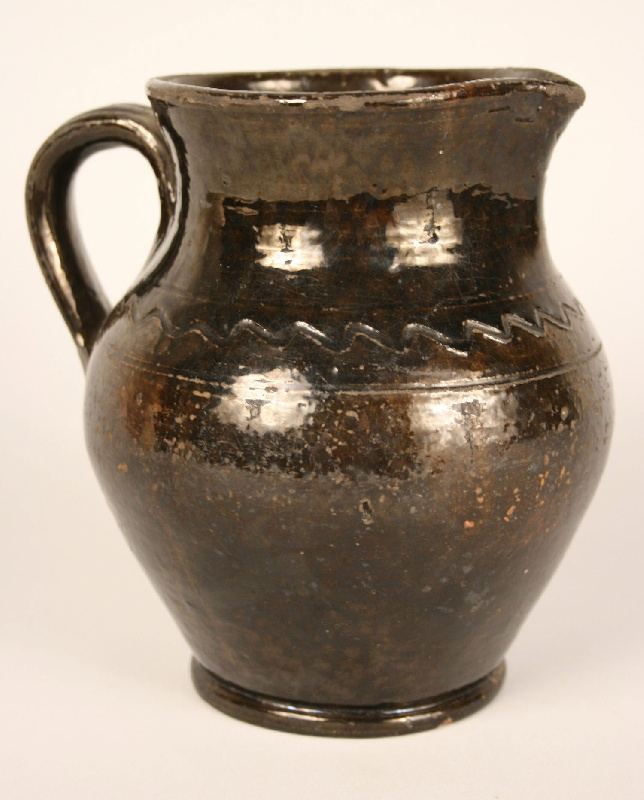 East Tennessee redware pitcher, attrib. Greene Co., TN
