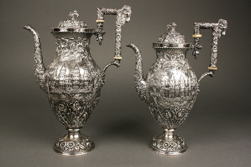 Sterling Repousse Coffee & Tea Service, 5 pieces, Baltimore