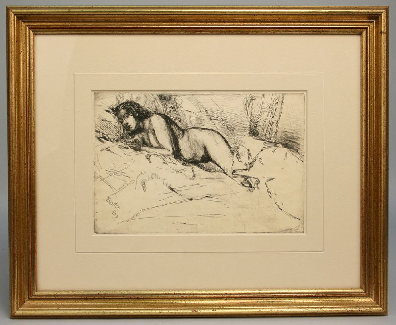 "Etching titled ""Venus"", James Whistler, 1859"
