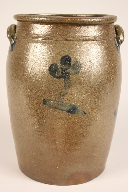 East Tennessee cobalt decorated jar, attrib. Charles Decker