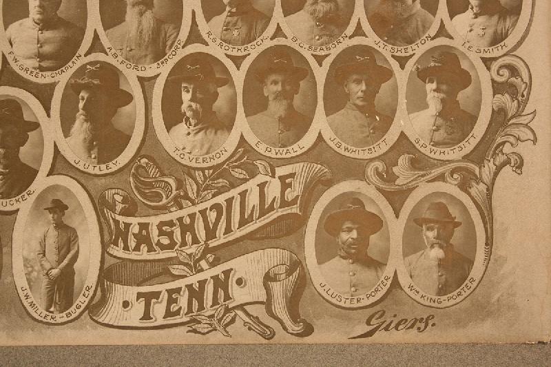 1904 Nashville, Tennessee Confederate Cavalry Veterans Photo