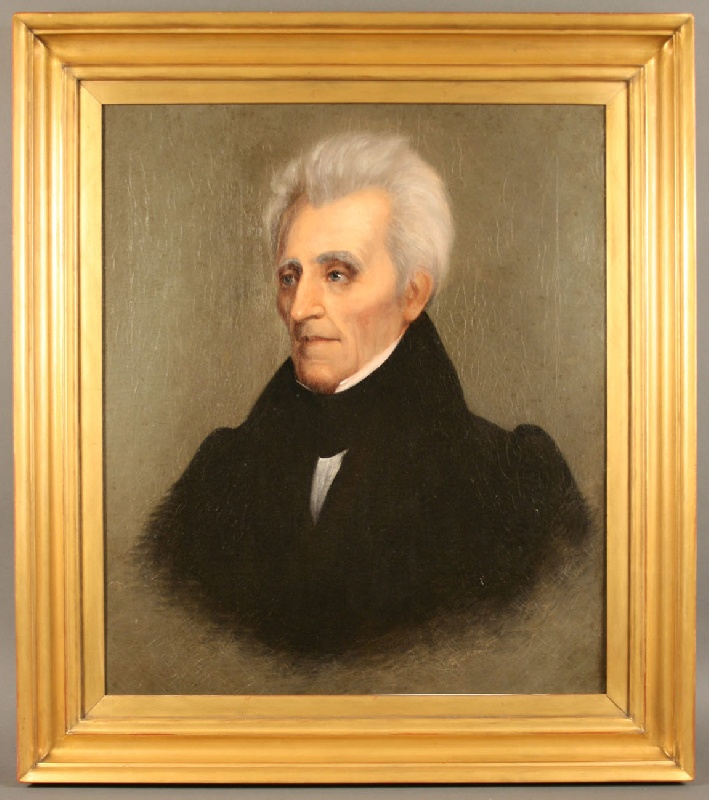 Oil on canvas portrait of Andrew Jackson, 1836