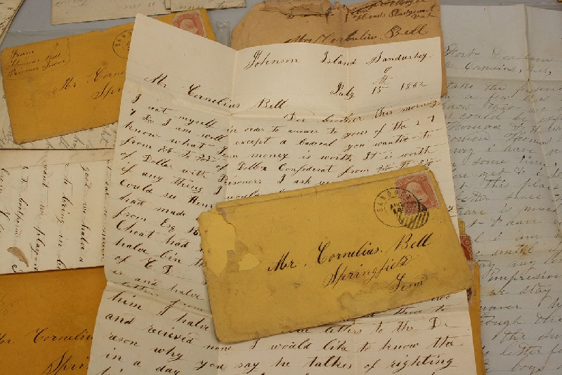Tennessee Confederate Civil War letters, Thomas Bell archive
