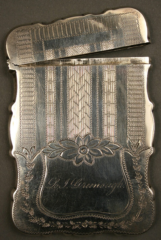 Tennessee coin silver calling card case, David Hope