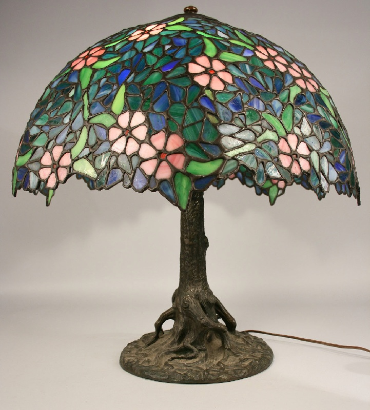 Handel Marked Lamp And Shade Possibly Unique Art Glass Co