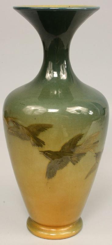 Rookwood decorated vase by Kataro Shirayamadani, 1893