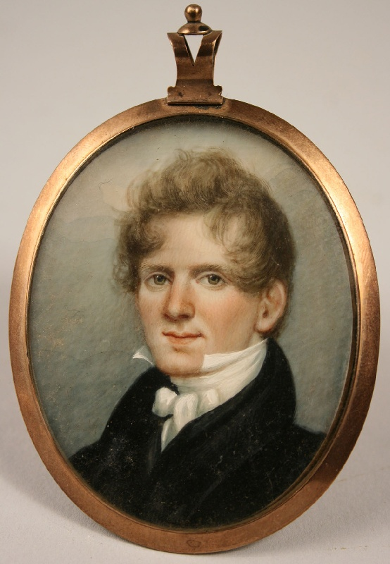 Early Southern Miniature of Dr. Hugh McGavock Kent