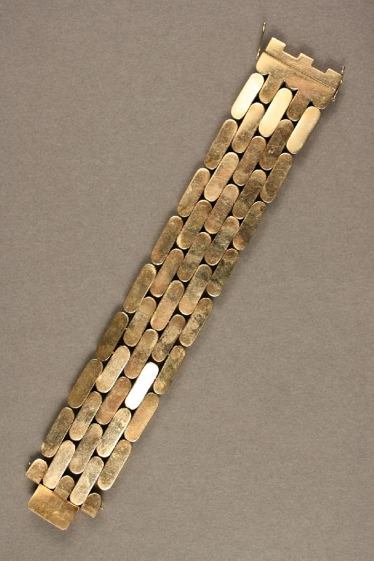 Ladies 14K gold link bracelet, 3.295 troy oz.