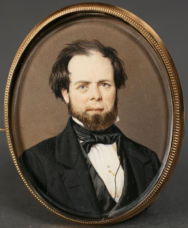 Miniature portrait on paper by John Wood Dodge