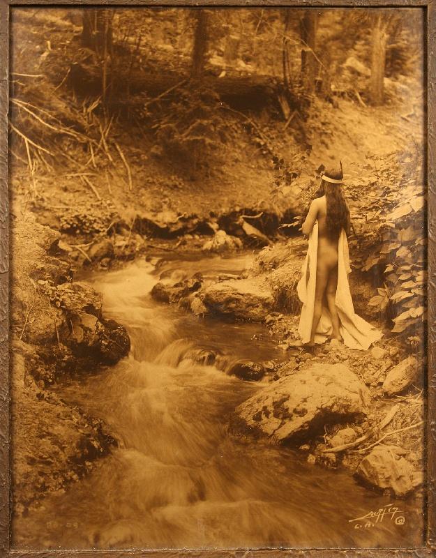 Edward Curtis orotone, The Maid of Dreams, 1909