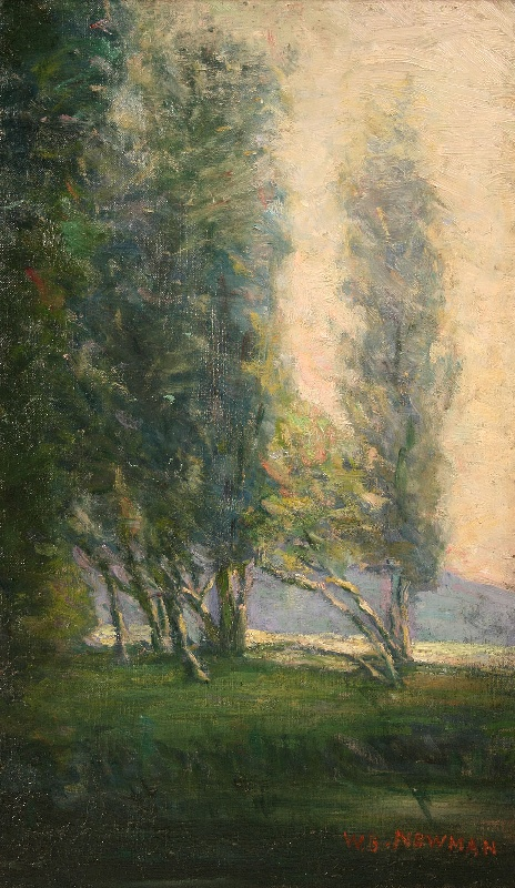 Oil on canvas landscape by Tennessean, Willie Betty Newman