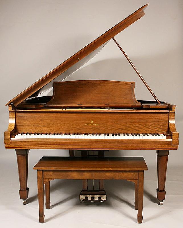 Steinway Mahogany Baby Grand M Piano, circa 1925