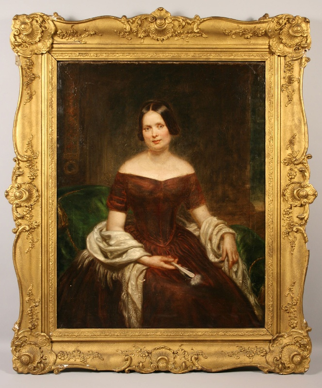 Large Tennessee portrait of Sarah Whitfied McPhail Nichols, attributed to Washington B. Cooper