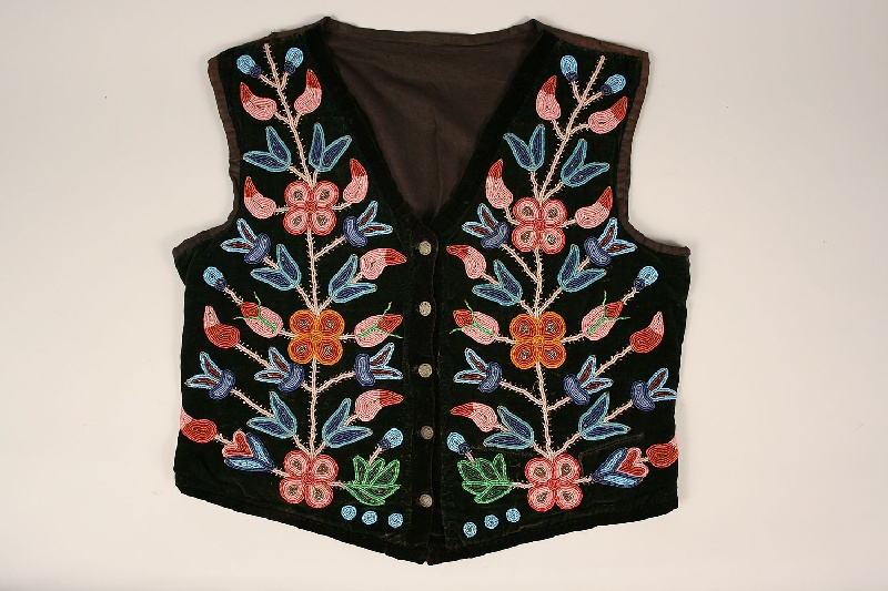 Plains Indian (Cree) beaded vest with provenance