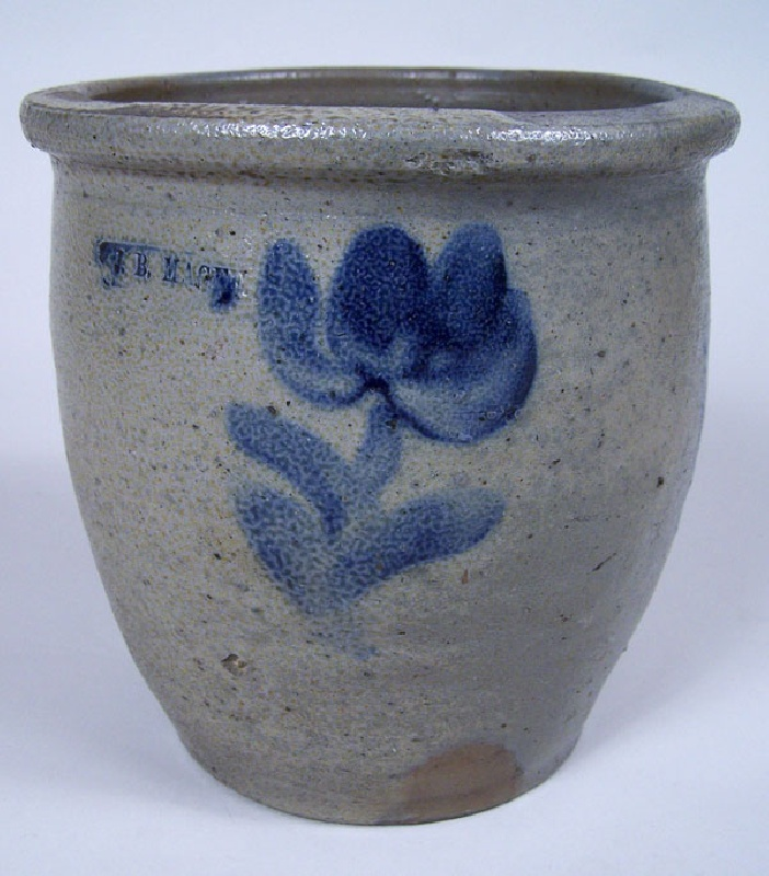 "Virginia cobalt decorated stoneware, stamped ""J.B. Magee"" (lot#75)"