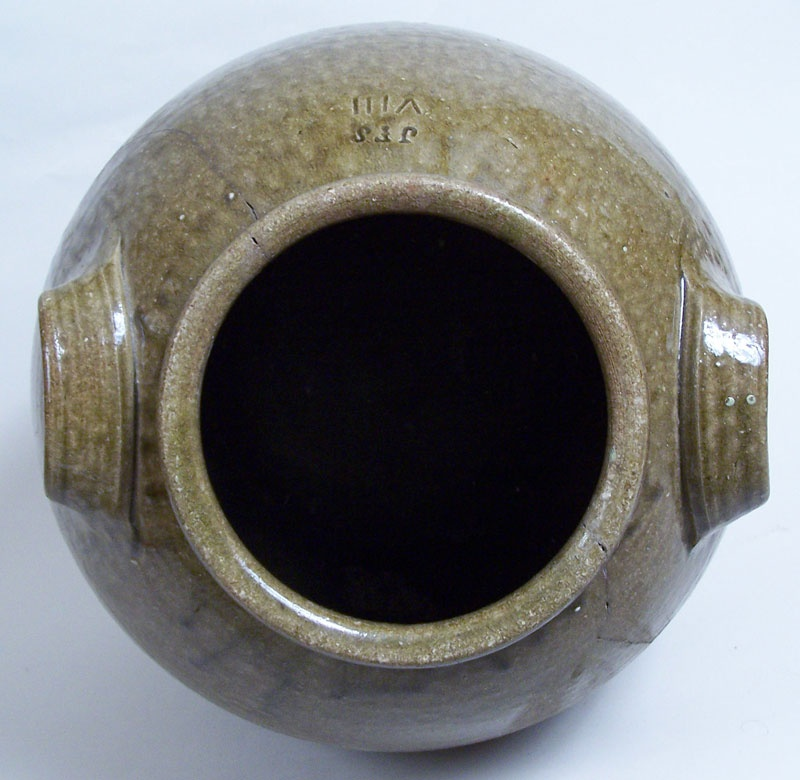 North Carolina pottery jar, stamped JFS, James Franklin Seagle (lot#46)