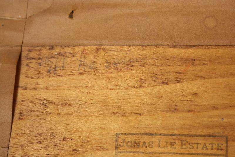 Oil on board by Jonas Lie (1880-1940)