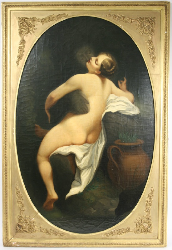 Painting of Jupiter and Io, painted after the Old Master by Antonio da Correggio.
