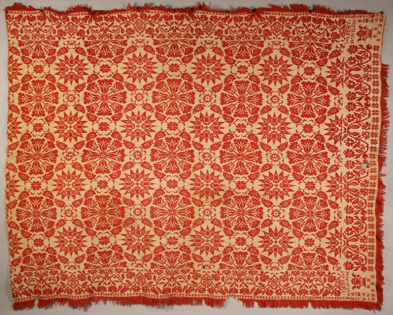 Kentucky coverlet by H. Wilson, 1849