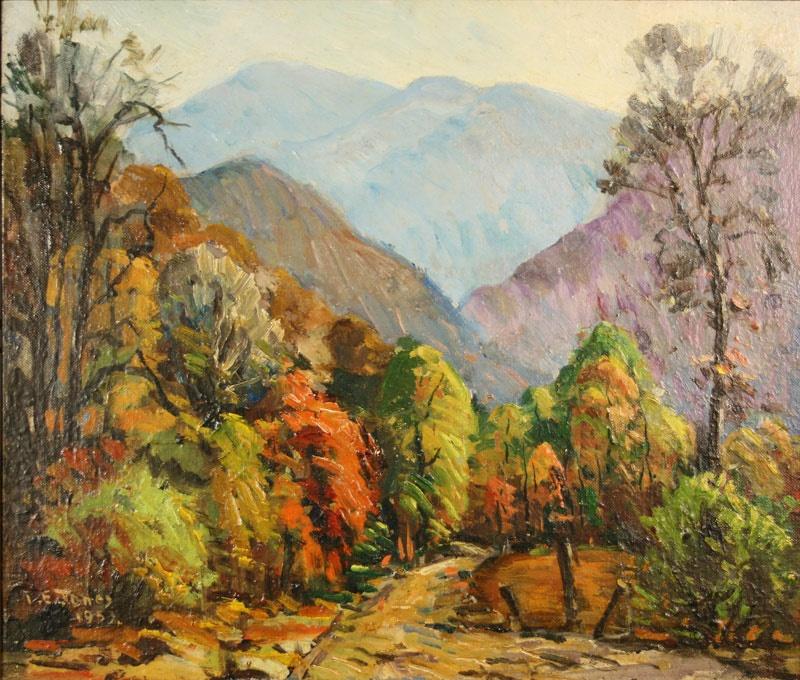 East Tennessee Autumn Landscape by Louis E. Jones