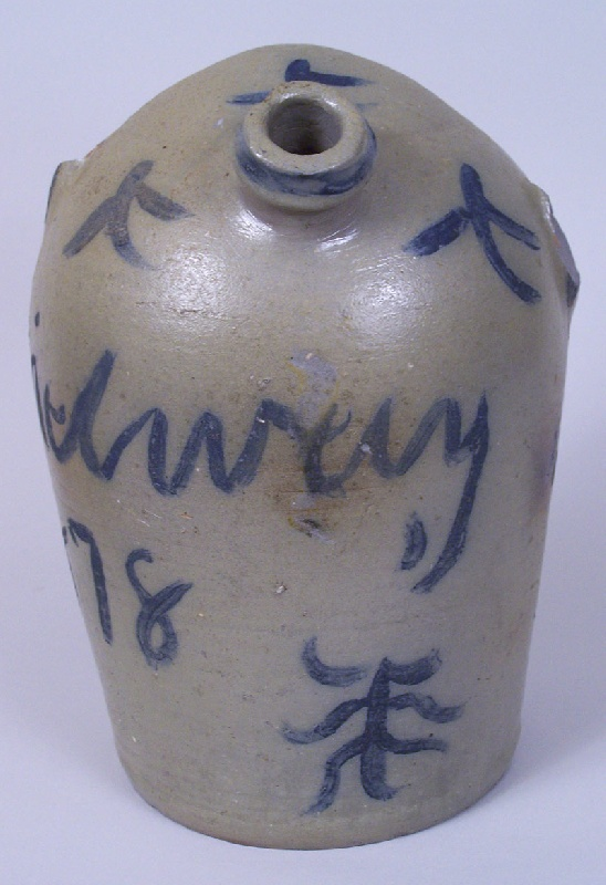 An important and rare decorated harvest jug,  Lewis Haun, Greene County, Tennessee (lot#99)
