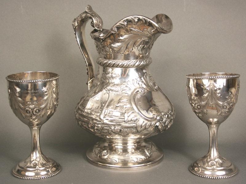 McGavock and Lindsley family silver of Nashville, TN. Lindsley Warden estate.