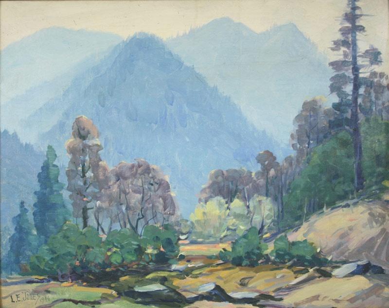 Lot 150: Tennessee mountain landscape by L. E. Jones (Louis Edward Jones, Tennessee, 1878-1958)
