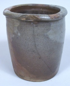 "Tennessee pottery jar, marked ""M P Harmon"", Greene Co., TN, small size (lot#138) - Image 1"
