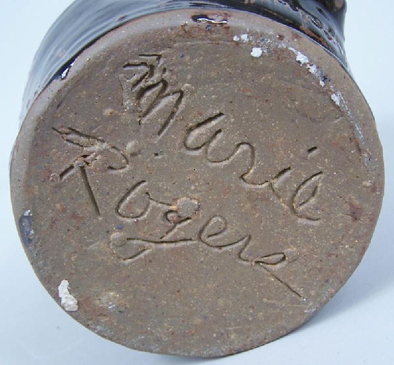 Southern folk pottery face vessel Marie Rogers (lot#225)