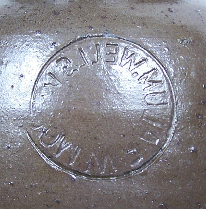 Scarce Virginia decorated E.W. Mort jar, Alum Wells, VA (lot#73)