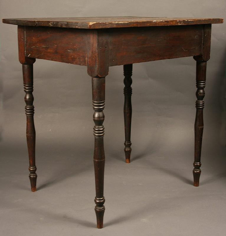 Piedmont North Carolina turned leg table, original surface