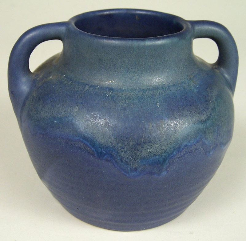 Newcomb art pottery vase with handles (lot#216)
