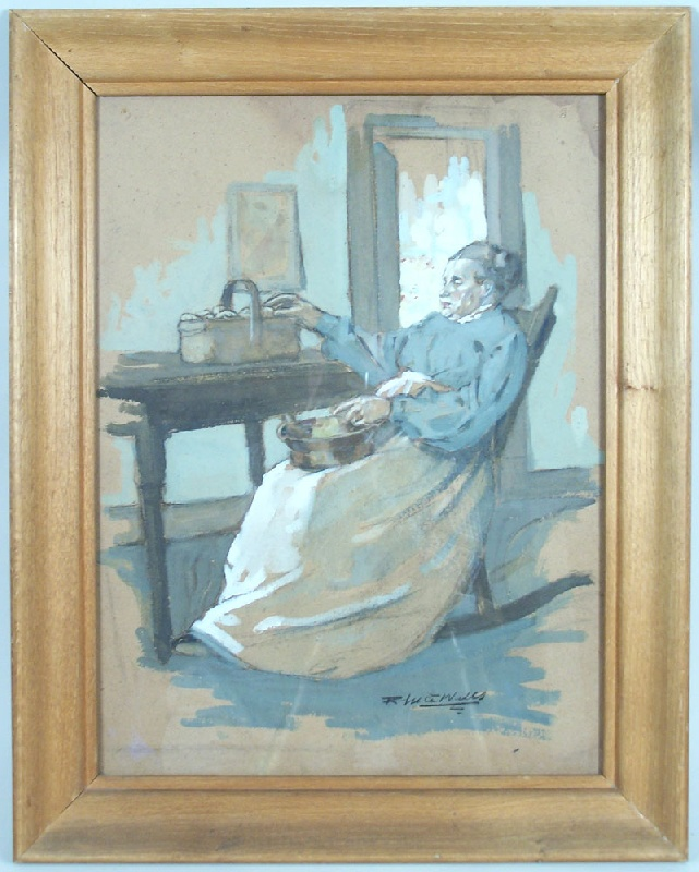 Tennessee Illustrator Rhea Wells painting (lot#153)