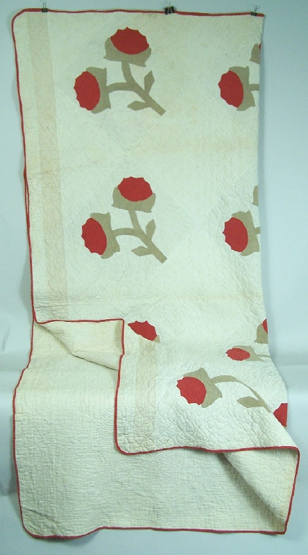 East Tennessee Rose Tree pattern quilt, circa 1875 (lot#146)