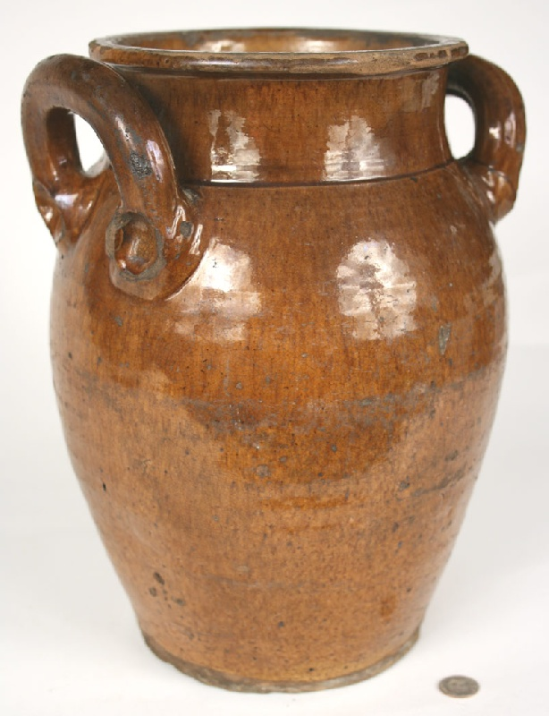 Early redware jar, Grainger County, Tennessee