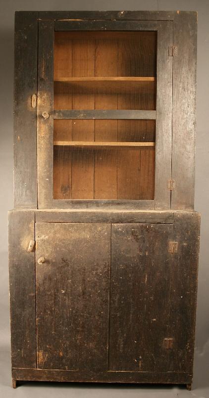 South Carolina  Piedmont painted cupboard