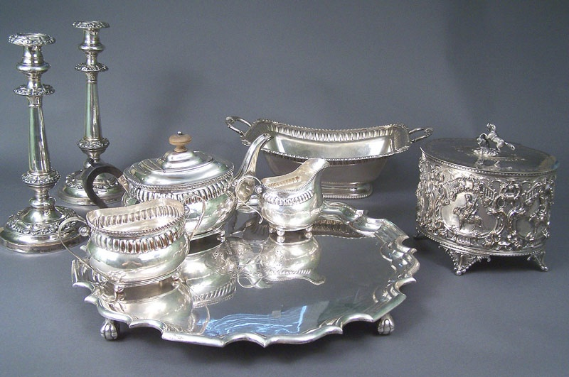 A grouping of Sheffield silverplate from the Glen Leven estate