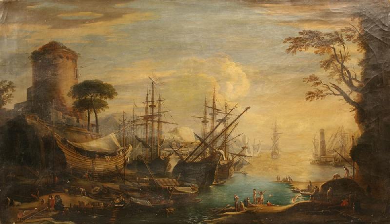 Important Oil on canvas by Italian master, Giovanni Signorini (Italian, 1808-1858)