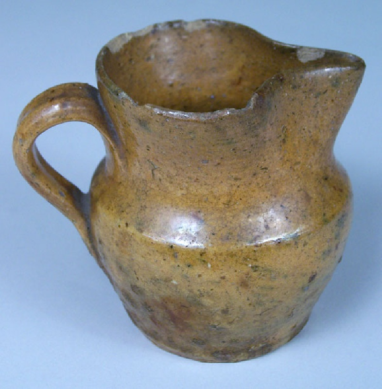 Virginia miniature redware pitcher, Smith County (lot#64)