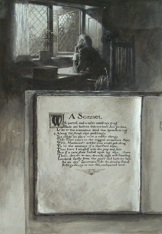 "Walworth Stilson illustration titled ""A Sonnet"" (lot#243)"