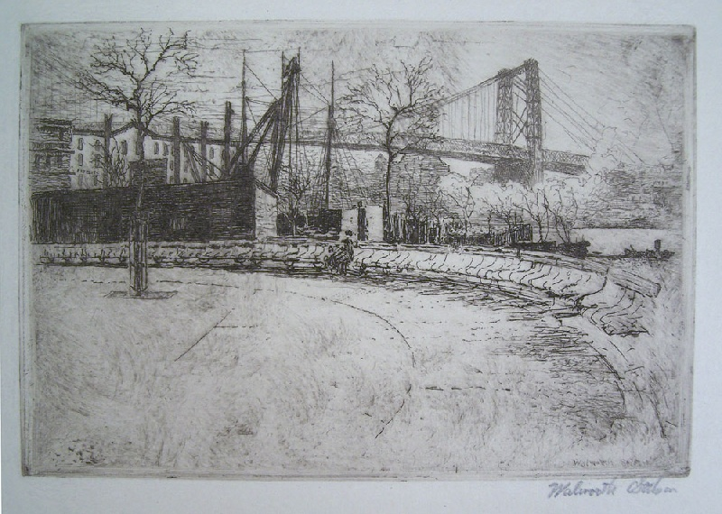 New York City area etchings by Walworth Stilson (lot#250)