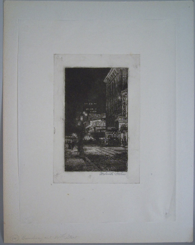 New York City etchings by Walworth Stilson, circa 1910-20 (lot#251)