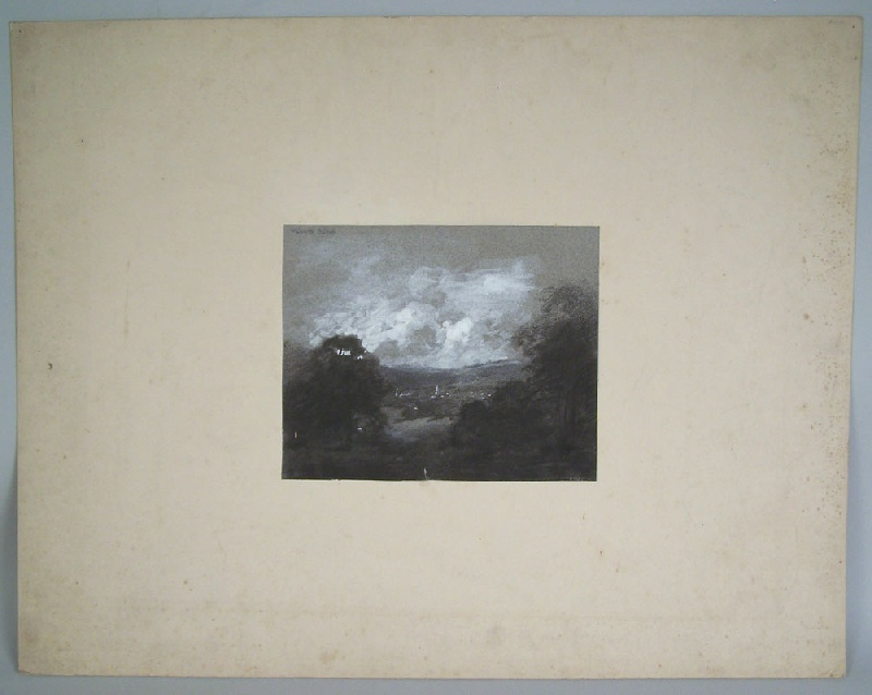 Walworth Stilson New England town landscape (lot#246)