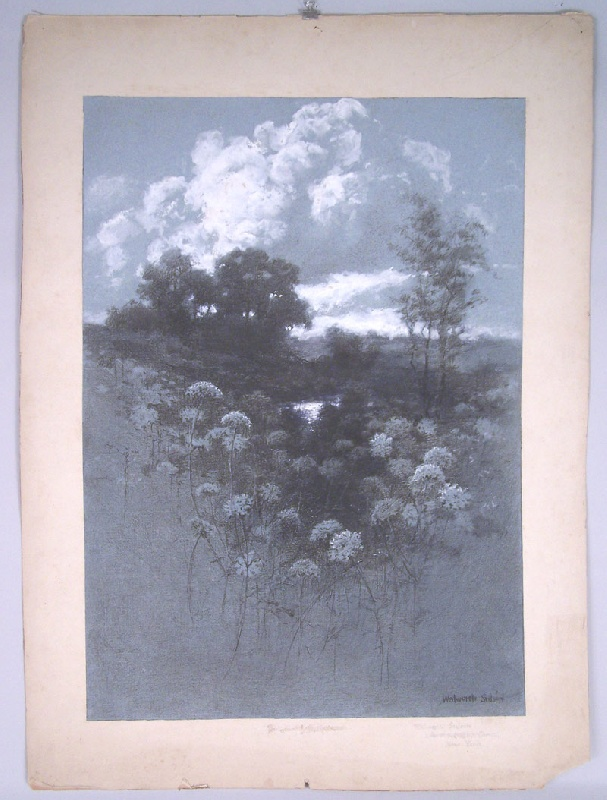 Walworth Stilson landscape, gouache and charcoal  (lot#241)