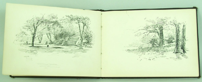 Walworth Stilson New York City sketch book, scenes from NYC circa 1900 (lot#249)