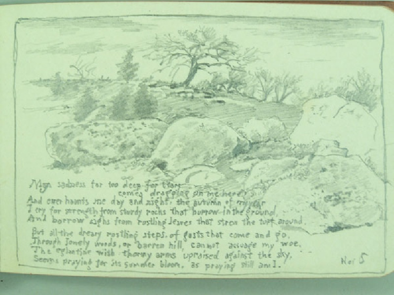 Walworth Stilson sketch book of New Milford, Connecticut scenes (lot#248)