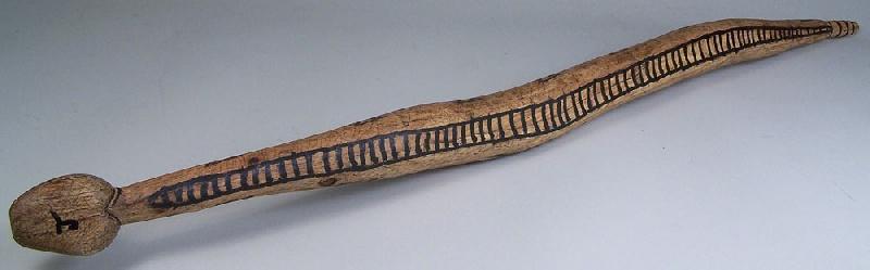 East Tennessee carved folk art rattlesnake