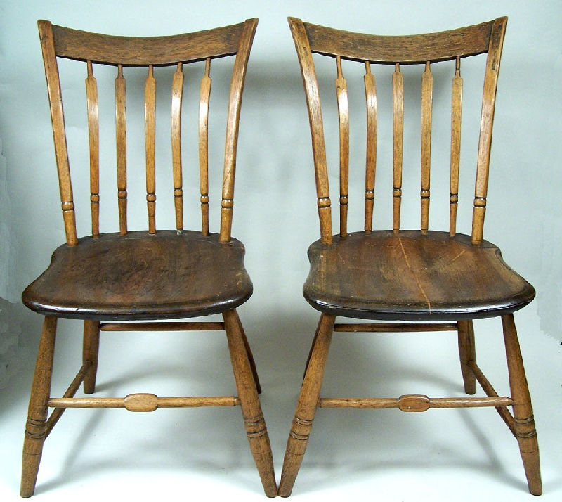 Pair of Tennessee windsor chairs, Sullivan or Washington County Tennessee (lot#125)