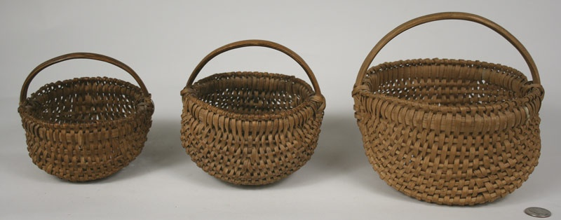 Three Southwest Virginia baskets.