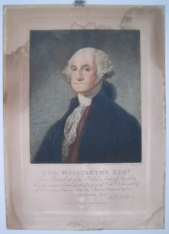 Engraving of George Washington after Gilbert Stuart, dated 1798 (lot#28)